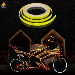 reflective bike decals Promo Codes - Bicycle reflector sticker Fluorescent MTB Bike Bicycle Sticker Cycling Wheel Rim Reflective Stickers Decal 8M length