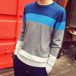 Wholesale japanese wool long sweater - 2016 New Autumn And Winter Fashion shirt Men Sweater Pullovers Japanese Cotton Merchant