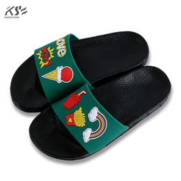 Wholesale Canvas Slides - slipper sandals women soft comfortable shoes women new designer fashion women's slippers pvc beach slides lady flops flats