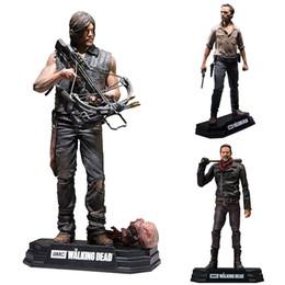 """Wholesale walking dead daryl dixon - The Walking Dead PVC Toys Negan Rick Grimes Daryl Dixon PVC Action Figure Collectible Model Toy 7"""" 18cm LA589-2"""
