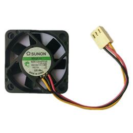 avc 12v dc fan Rabatt SUNON 4 CM KDE1204PFVX 4010 12 V 1,8 Watt 3 Draht Lüfter High Speed System Fan Mainbaord CPU Fan
