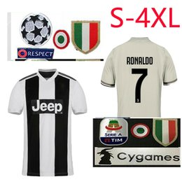 98f3345ee 2018 2019 RONALDO HOME soccer jersey Juventus football shirt MANDZUKIC  Camiseta 18 19 Juventus away DYBALA HIGUAIN adult size S-4XL