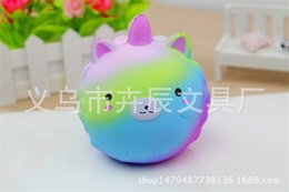 Wholesale Food Phone Charms - Hot Colored Unicorn Squishy Simulation Food For Key Ring Phone Chain Toys Gifts All Kinds Of Style