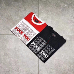 Wholesale glamour red - S Dirty Words Tee HYSTERIC 17FW GLAMOUR Football Tee Comfortable Man And Women High Quality Black And Red Summer Tee HFBYTX117