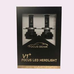 Faros kit 24v 12v online-Actualización de la versión V1 + H1 Bombilla de luz LED de haz alto Kit de conversión CAN-BUS Bombillas para faros de automóvil auto 70W 12800LM 12V 24V
