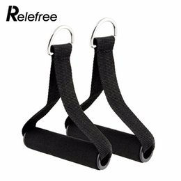 Wholesale Resistance Workout Equipment - Relefree 1 Pair Pull Handles Resistance Bands Foam Replacement Fitness Yoga Exercise Workout Equipment
