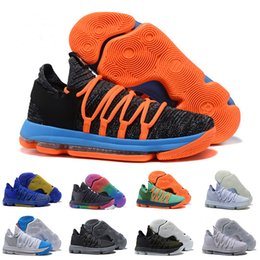 kd sneakers kostenlos Rabatt Männer Basketball Schuhe 10 Jahrestag Universität noch Kd Iglu BETRUE Oreo USA Kevin Durant Elite KD10 Sport Turnschuhe Großhandel free shippin