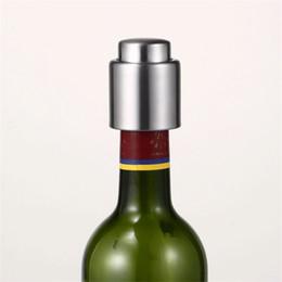 Tappi per bottiglie di vino in acciaio inossidabile online-Tappo di vino rosso champagne in acciaio inox Tappo di vino fresco tappi di vino in metallo Coperchio sigillato Logo personalizzato 3 3jc gg