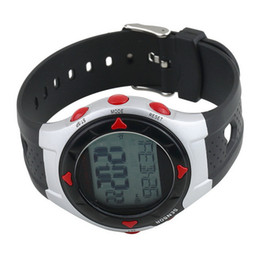 Wholesale heart rate watch calorie counter - 2016 New Waterproof Pulse Heart Rate Monitor Stop Watch Calories Counter Sports Fitness Drop Shipping