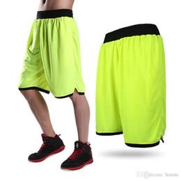 2019 pantalones cortos hombres poliéster Pantalones cortos al por mayor-flojos ocasionales de los hombres Pantalones cortos de malla de poliéster Homme Longitud de la rodilla Pantalones cortos de los hombres de color caramelo PA-5744 rebajas pantalones cortos hombres poliéster
