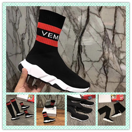 Wholesale Long Sneakers - High Quality Speed Runner Trainer long-style Sock Shoes Man Casual Boots women Cheap fashion sport sneaker boost size 36-45