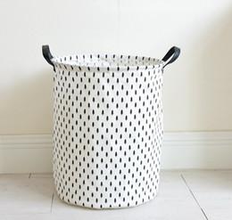 Bequeme leinenbekleidung online-Schmutzige Kleidungs-Speicher-Körbe haltbare faltende INS Taschen runde Baumwollleinen-breathable waschender Korb bequem