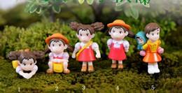 diy miniature decorazioni di natale Sconti Cartoon Hayao Miyazaki Film Miniature PVC Cute Anime Figurine Fai da te Fairy Garden Terrarium Micro Landscape Decoration Kids Christmas Gift