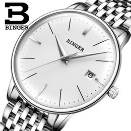 Wholesale binger watches - BINGER Mechanical Men watch Luxury Brand Mens Automatic Watches Sapphire Wristwatches Male Watch Waterproof Reloj Hombre B5078M6