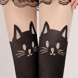 Wholesale Cat Women Leggings - Feitong New Sexy Stockings Women Cute Cat Tail Leggings Female Catoon Stocking Sexy Sheer Pantyhose Stockings Long Sexy Stocking