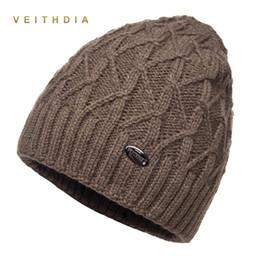 VEITHDIA hats winter for men skullies double layer gorro men s knitted wool  beanies solid Color bonnet plus velvet warm cap man 9f201dfd411