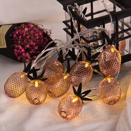 Argentina Luces de la secuencia de la piña, 9.8FT 20 LED lámpara de hadas con pilas para la decoración del cumpleaños del dormitorio del banquete de boda de la Navidad (blanco caliente) Suministro