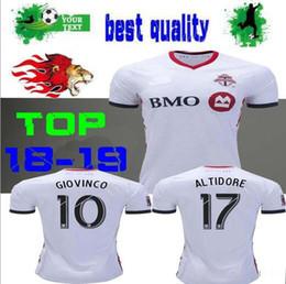 b176ef6e0 2018 2019 Toronto FC jersey soccer home red away white GIOVINCO 18 19  Toronto BRADLEY VAZQUEZ ALTIDORE DELGADO football shirt top quality