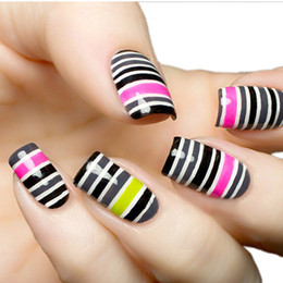 Wholesale Nail Tapes - Multi Colors Rolls Striping Tapes Line Nail Art Patterns Decoration Nail Art Sticker Wraps Sticker Highlight Manicure 0603038