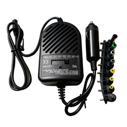 Wholesale charger for pc computer - Universal 80W DC Car Charger Power Adapter With 8 Ports For Laptop Notebook Computer PC 15~24V Variable Voltage