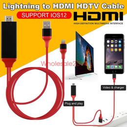 Canada Adaptateur de câble AV HDMI HDTV 8 broches C vers Pro pour iPhone 8 Câble de charge USB 8 Plus Plus X Ipad USB HDMI Offre
