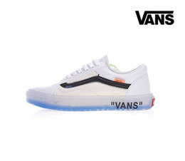 Wholesale canvas shoes van - 2018 Vans 50% Off The Wall old skool zapatillas de deporte Athentic Casual WHITE Shoes Canvas Mens Womens trainers designer Sneakers 35-44