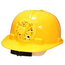 Fãs amarelos on-line-Capacete de Segurança com Energia Solar Capacete Cap Hard Ventile com Cooling Cool Fan Trabalhador Verão Amarelo Ultimate Energy Cooling Fans