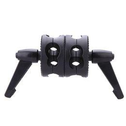 Wholesale Head Boom - Andoer Dual Swiveling Grip Head Angle Clamp for Photo Studio Boom Arm Reflector Holder Stand