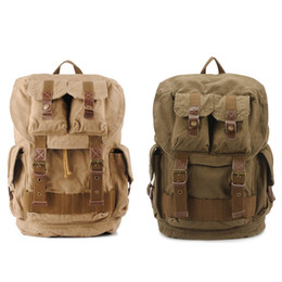 Wholesale Large Travel Hiking Backpacks - Computers Laptop Backpacks Unisex Casual Rucksack Canvas Backpack Large School Bag Travel Climbing Rucksack Free DHL G166S
