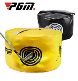 giostre gialle Sconti PGM Golf Prova di combattimento Pacchetto di pratica Colpo di swing Pratica Target Piccolo spazio per postazione ausiliaria Giallo Nero
