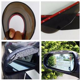 Wholesale Car Rain Rear - 1 Pair New Universal Car Rear Side Mirror Rain Board Visor Shade Eyebrow Shield