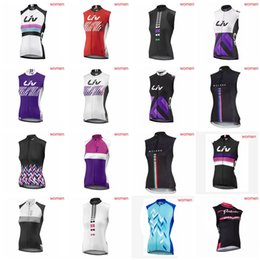 Wholesale team cycling vests - LIV team Cycling Sleeveless jersey Vest women outdooor high quality Breathable Mountain Bike Clothes sportwear D2009