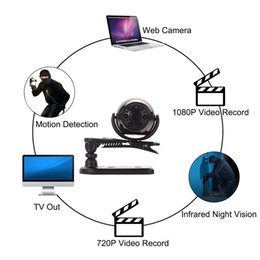 verdeckte mini-kamera Rabatt Mini Kamera HD 1080 P 6 Infrarot Nachtsicht Bewegungserkennung Tragbare Mini Home Verdeckte Sicherheit Überwachungskamera Nanny Cam