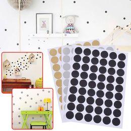 tuiles de son Promotion Style nordique Round Dots Autocollant Mural Pour Chambre Décor À La Maison Salon Stickers Muraux