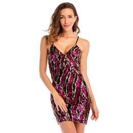 148266c970d 2018 Summer Bling Slip Dress Criss-Cross Back Mini Sheath Dresses Sexy  Women Backless Night Out Club Dresses Cocktail Dresses LJH0438