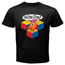 2019 новые аркадные игры Новый Q Берт ретро 80-х аркадная видеоигра мужская черная футболка размер S до 3XL новый дизайн хлопок мужской футболка проектирование дешево новые аркадные игры