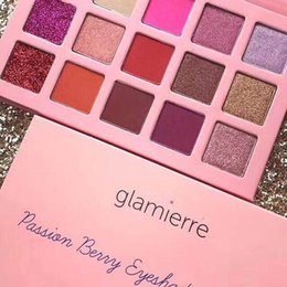 Wholesale Easy Come - 2018New coming pink Glamierre Brand Solar Glow Eyeshadow Palette 15 color ultra pigmented shades a mix of glitter matte and shimmer shadows