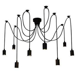 Wholesale Spider Ceiling Lamp - Vintage Multiple Adjustable DIY Ceiling Spider Lamp Pendant Lighting Modern Chic1.5 M, 8pcs Lamp cap