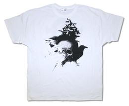 "Etiquetas del cuello de la camiseta online-BLACK LABEL SOCIETY ""BIRDS"" ORDEN DE BLACK SKULL WHITE T-SHIRT NEW Tees Custom Jersey camiseta hoodie hip hop camiseta"