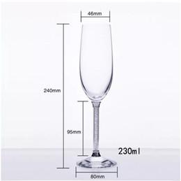 2019 rubinrote kristallgläser Champagne Glasflöten perfekt für Hochzeitsgeschenke Set von 2 Luxus K9 Crystal Toasten Flöten und Weingläser