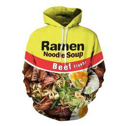 Wholesale chicken 3d - New Fashion Couples Men Women Unisex HD beef ramen Chicken noodles Food 3D Print Hoodies Sweater Sweatshirt Jacket Pullover Top S-5XL