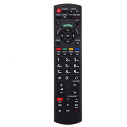 Wholesale tv remote plastic - 1pc New Plastic TV Replacement Remote Control for Panasonic LCD LED HDTV N2QAYB000487 EUR-7628030 EUR-7651030A Remote Control