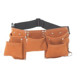 Wholesale Leather Gagged - Kids Leather Tool Belt Child Toy Tool Pouch for Costumes Dress Up Role Play Fun Gags Toy Gift