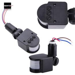 ABS Environnement LED réglable 220V Infrarouge PIR Détecteur de mouvement Détecteur Mur Interrupteur 12M Noir ? partir de fabricateur