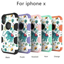 Wholesale Iphon Case Cover - 2017 new fashion IPHON X mobile phone 3-in-1 protective sleeve to the cartoon elephant back cover protective sleeve Iphone7   7Plus  8 Plus
