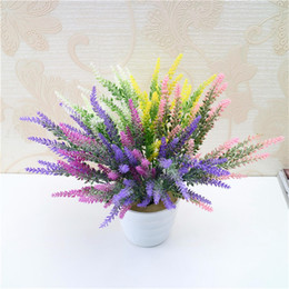 Wholesale lavender artificial flower - Simulation Lavender Flower Romantic DIY Wedding Decorations Artificial Fake Flowers For Party Favor Countryside Decoration 1 8lt UU