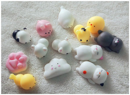 Wholesale Toy Cats For Kids - Cute Squishy Cat Mochi Squeeze Phone Straps Squishies Slow Rising Healing Fun Kids Kawaii Squishies Stress Reliever Toys Christmas