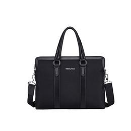 2017 neue koreanische Herren Business Aktentasche Oxford Tuch mit Leder Herren Schulter Messenger Bag Handtasche von Fabrikanten
