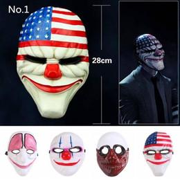 2019 máscara dos homens velhos Tópico Jogo da Série Máscara de Rosto Halloween Xmas PVC Máscara de Palhaço Assustador Payday Mascara Carnaval Homem Velho Palhaço Bandeira Cabeça Vermelha Masquerade Cosplay máscara dos homens velhos barato