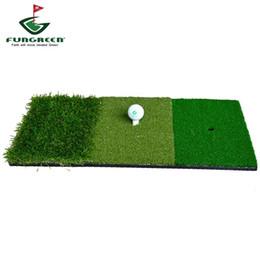 2019 golf übungsmatten 12''x24''Golf-Schlagmatte Indoor-Outdoor-Hinterhof-Tri-Turf-Golfmatte mit Tees-Loch-Übungsgolf-Protable-Trainingshilfen rabatt golf übungsmatten